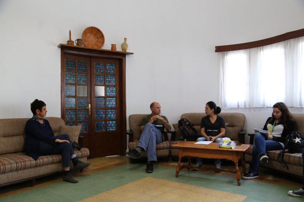 Matthew Saltmarsh of UNHCR interviews Lebanon Trust and FAID staff