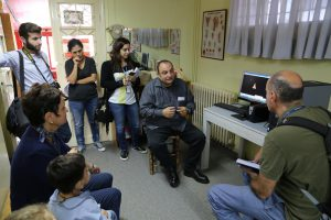 The UNHCR delegation visiting the Audiology department at FAID.