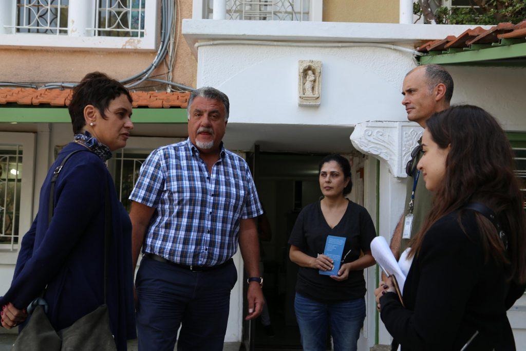 Matt Saltmarsh (UNHCR) interviews FAID's Chairman Toufic Takchi